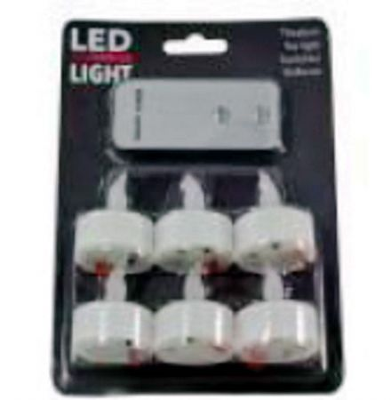 LED Tea Lights - Battery powered Flame-less - With Remote Control & Timer Function - 6 pack